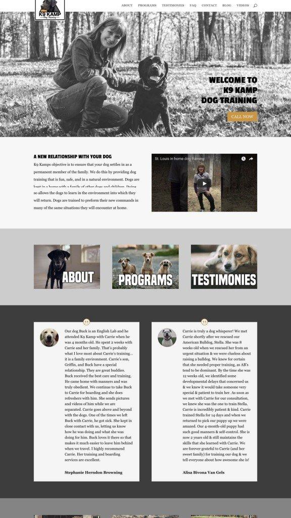 Web Design Samples Dog Training