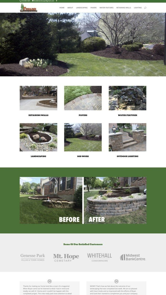 landscaping web design sample 2019