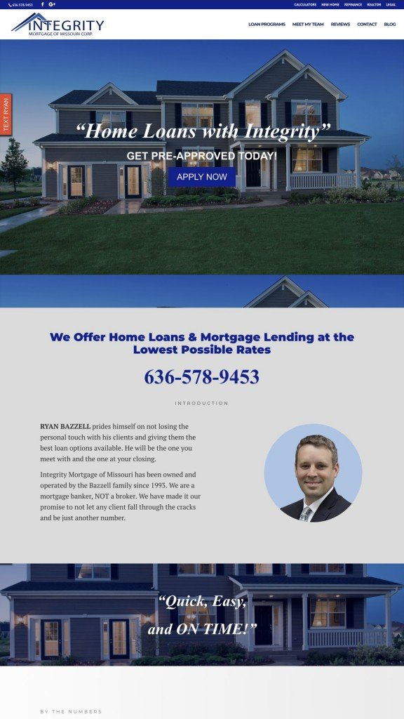 mortgage web design sample 2019