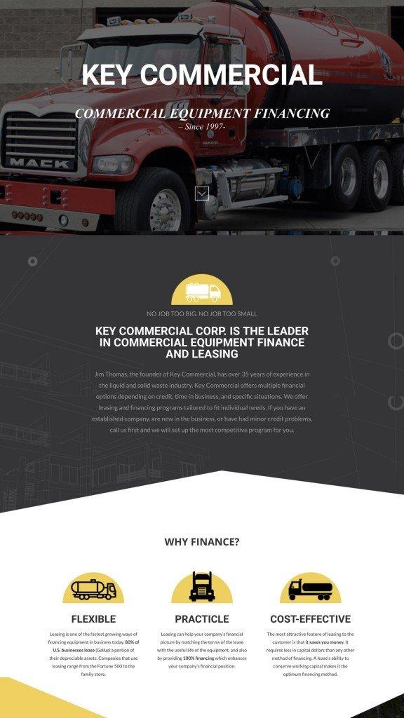 Web Design Samples Trucking
