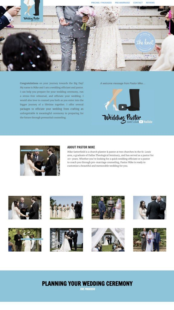 Web Design Samples Wedding