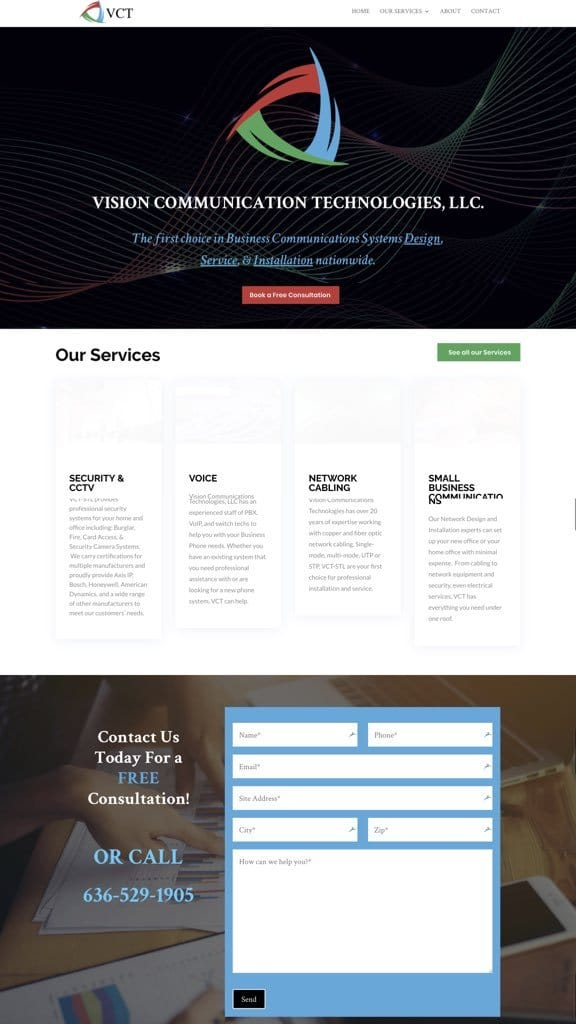 contractor web design sample 2019