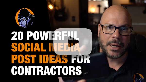 20 social media post ideas for contractors Facebook or instagram