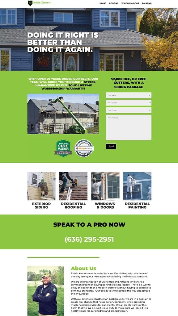 construction web design sample 2019