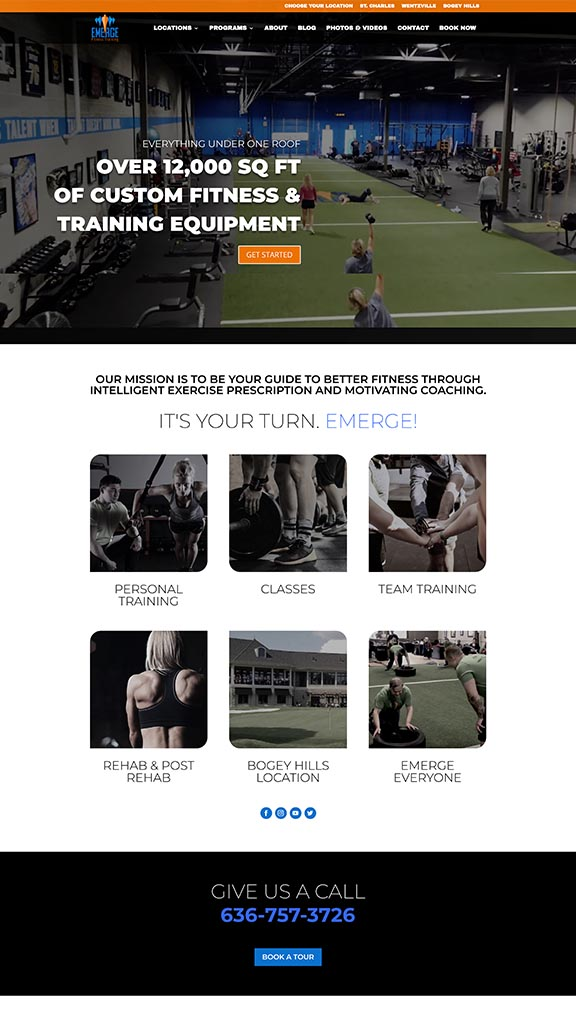 fitness web design sample 2019